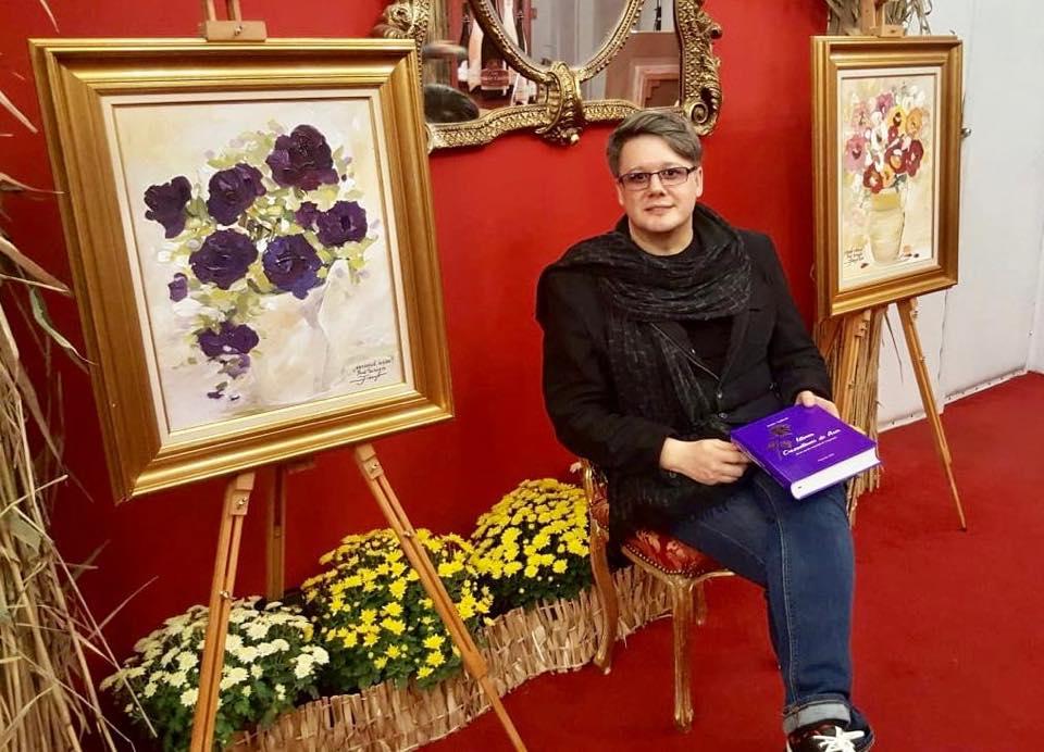 """Imagini de la cea de a treisprezecea expoziție de pictură marca PAUL SURUGIU - FUEGO – """"FLORI DE ROUĂ"""" - Târgoviște (19 octombrie 2018)"""